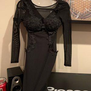 Sheer Padded Mini Dress